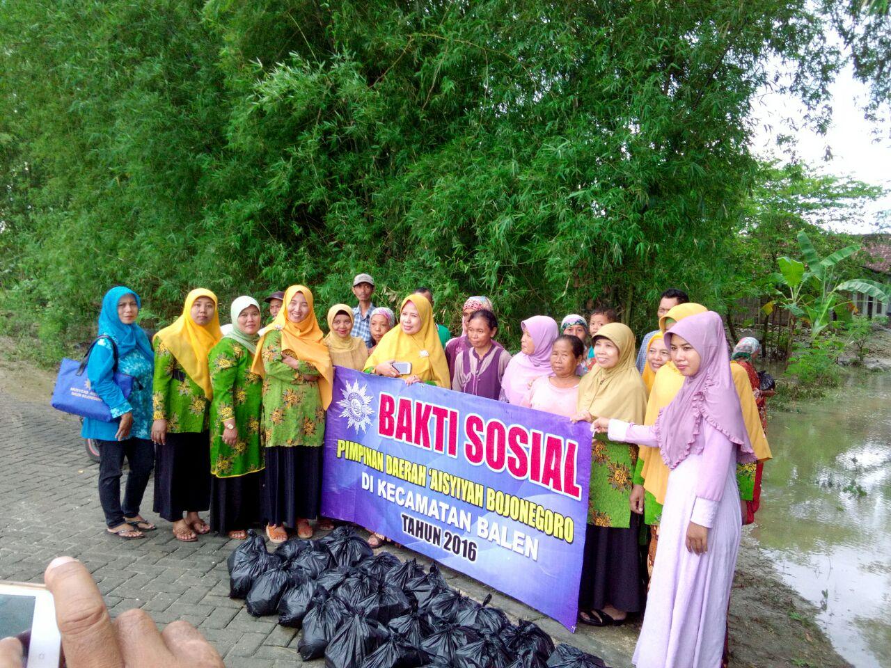 Bakti Sosial PDA Bojonegoro terhadap korban banjir di Kecamatan Balen